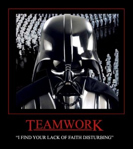 Darth Vader on Teamwork